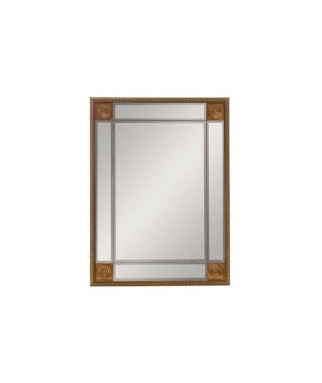 Miroir mural déco bois - 72,5 x 97,5 x 3 cm