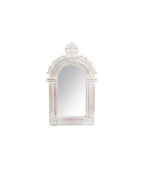 Miroir mural déco bois sculpté - 46 x 76 x 3 cm