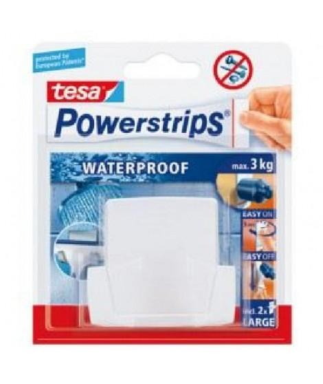 TESA Double crochet spécial salle de bain + 2 Powerstrips waterproof