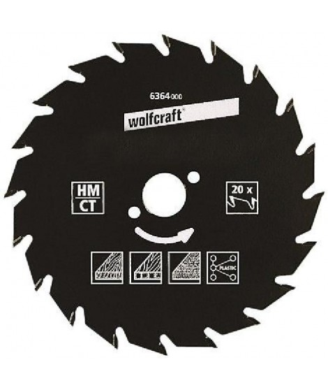 WOLFCRAFT Lame scie circulaire CT - 30 dents - Ø 210 x 30 mm