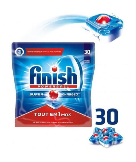 FINISH NK2 Paquet de 30 tablettes pour lave-vaisselle Tout en 1 - Powerball All in One Max