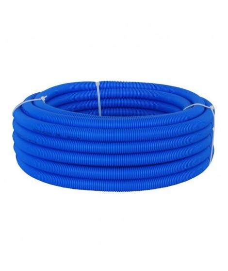 DIPRA Tube PER gainé bleu - Diametre 12 / 15m