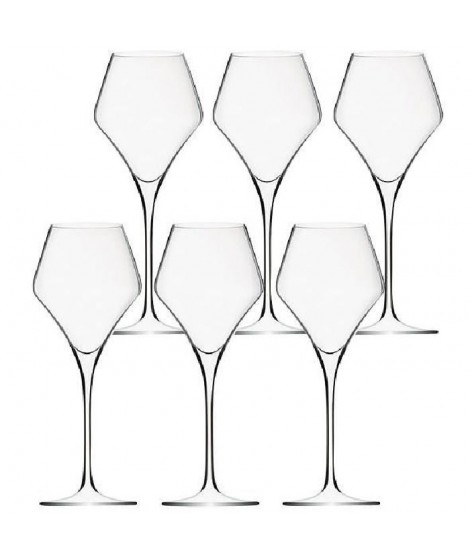 Lot de 6 Verres Diamant - 27cl - Cristallin