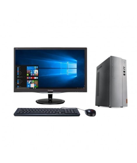 "LENOVO PC de bureau Ideacentre 310s-08IAP - RAM 4Go -Celeron J3355 -Intel HD Graphics -Stockage 1To + Ecran LED 24"" FHD - Dal…"