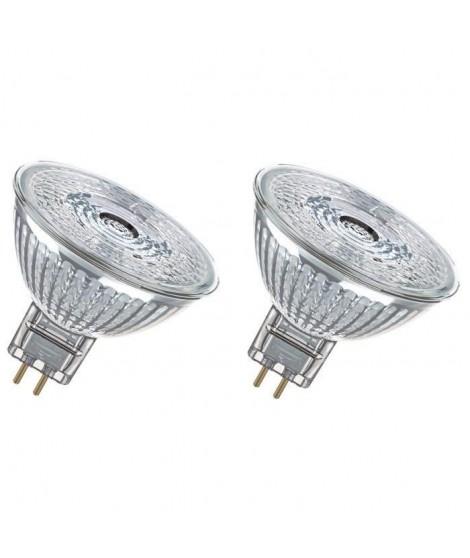 OSRAM Lot de 2 Ampoules spot LED MR16 GU5,3 3 W équivalent a 20 W blanc chaud dimmable