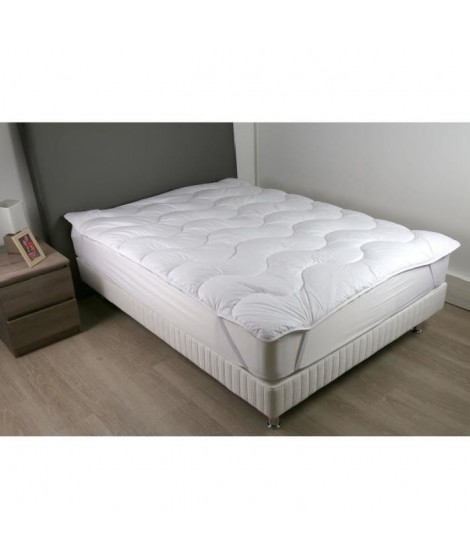 DODO Sur-matelas 140x190 - Polyester fibre haute technologie 470 gr/m² - Moelleux - CONTRY