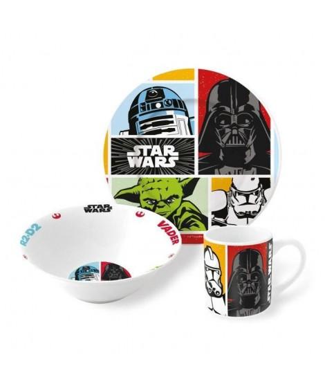 UNBRANDED ADT Set de vaisselle enfant 3 pieces en céramique Star Wars - Orange - Gres
