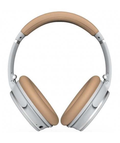 R-MUSIC KOL Casque Bluetooth a réduction de bruit active - 10h d'autonomie - Gris