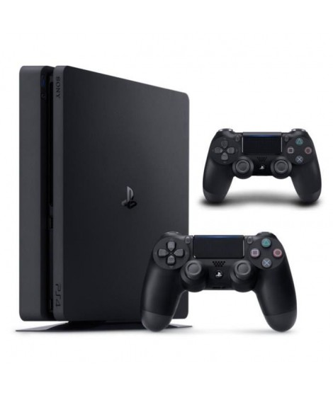Nouvelle PS4 Slim 500 Go Noire + 2e Manette DualShock Noire