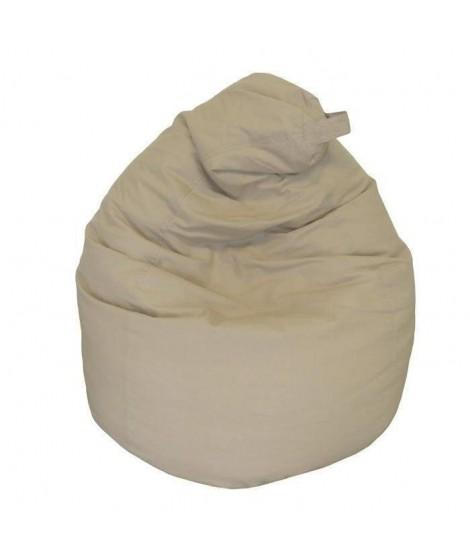 LANA Poire pouf en coton Ø75x110 cm taupe