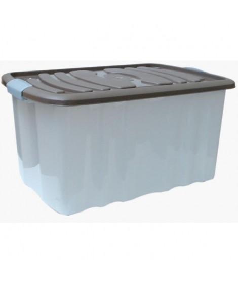 M-HOME ROLL BOX Grand bac de rangement + Couvercle 45L taupe