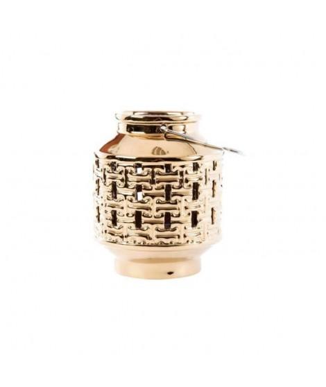 ITEM Bougeoir Céramique - 15x18cm - Doré