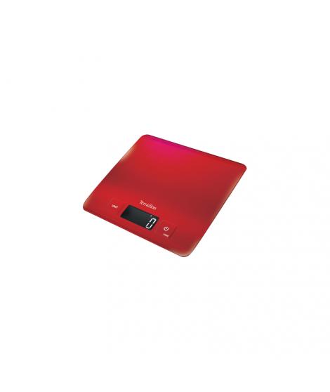 Balance électronique inox rouge Carré, 5 kg - Terraillon