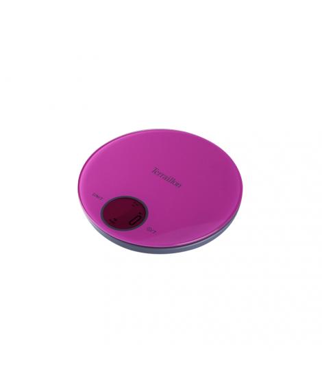 Balance électronique rose et grise Halo Glass, 5 kg - Terraillon