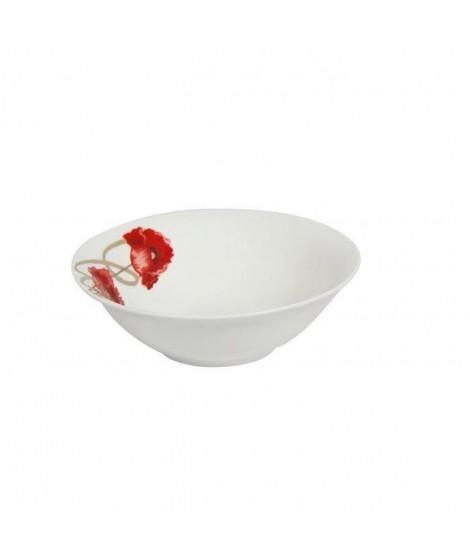 NOVASTYL Saladier 23 cm Coquelicot - Rouge - Porcelaine