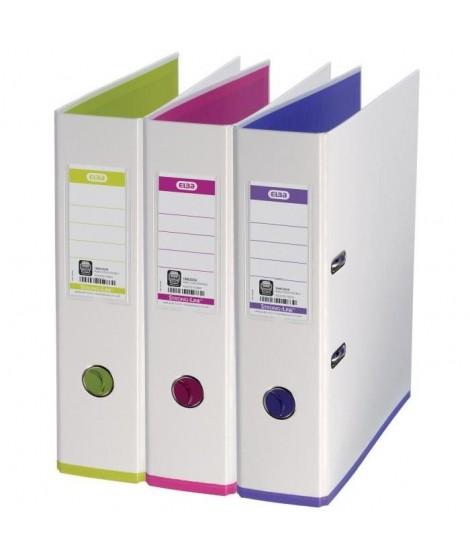 ELBA Classeurs a a levier my colour A4 - Dos 80 mm - Couleurs assorties