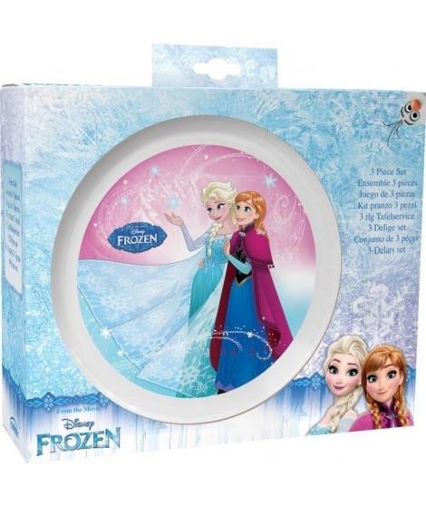 TRUDEAU Set vaisselle 3 pieces La Reine des Neiges - Blanc - Plastique