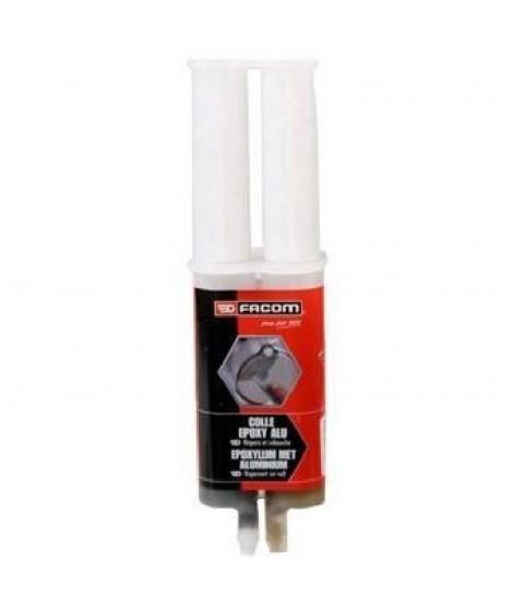 FACOM Colle epoxy - Seringue bi-composant avec bouchon - 28g