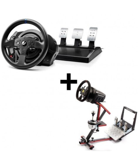 Pack Thrustmaster Volant T300RS Gran Turismo Edition PS4 - PS3 + 69DB Support Wheel Stand EVO offert !
