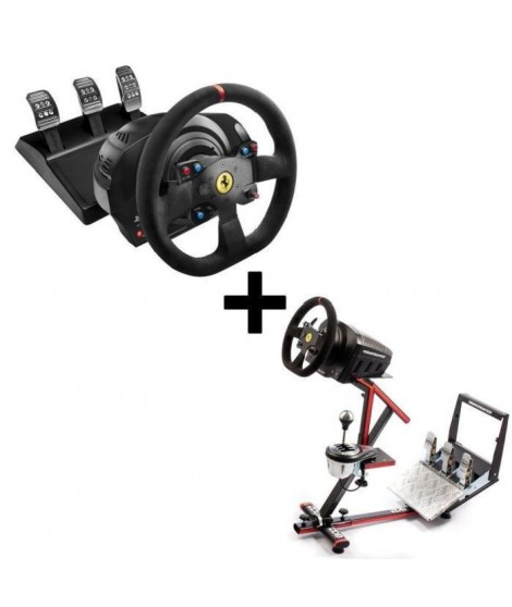 Pack THRUSTMASTER Volant T300 Ferrari Alcántara Edition - PS3 - PS4 - PC + 69DB Support Wheel Stand EVO offert !