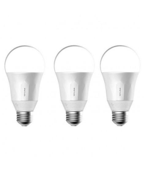 TP-LINK Lot de 3 Ampoules LED LB100 connectées Wi-Fi E27 50 W avec variation de l'intensité lumiere blanche