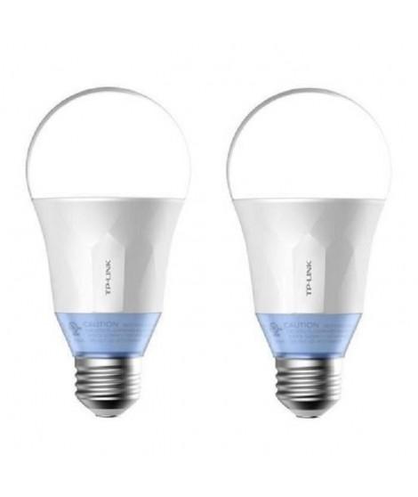 TP-LINK Lot de 2 Ampoules LED LB120 connectées Wi-Fi E27 60 W avec lumiere blanche personnalisable