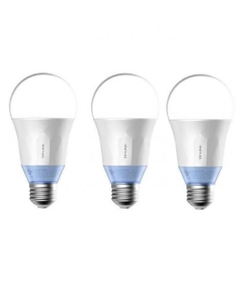 TP-LINK Lot de 3 Ampoules LED LB120 connectées Wi-Fi E27 60 W avec lumiere blanche personnalisable