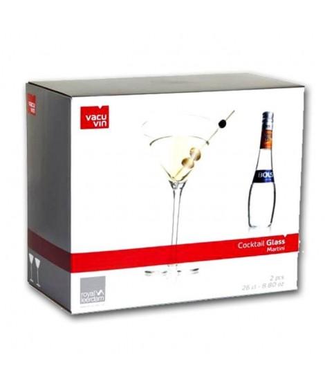 "Lot de 2 Verres Cocktail 26 cl Vacu Vin ""Martini"""