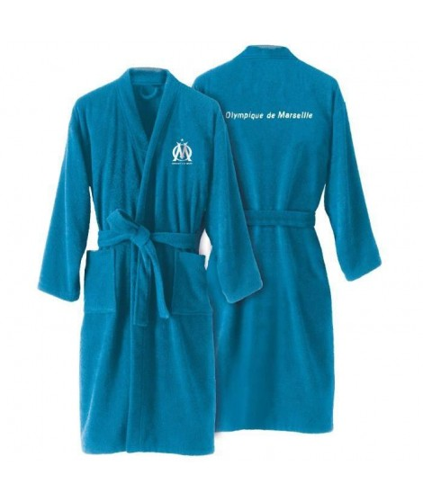 OM Peignoir adulte a col kimono  - Bleu