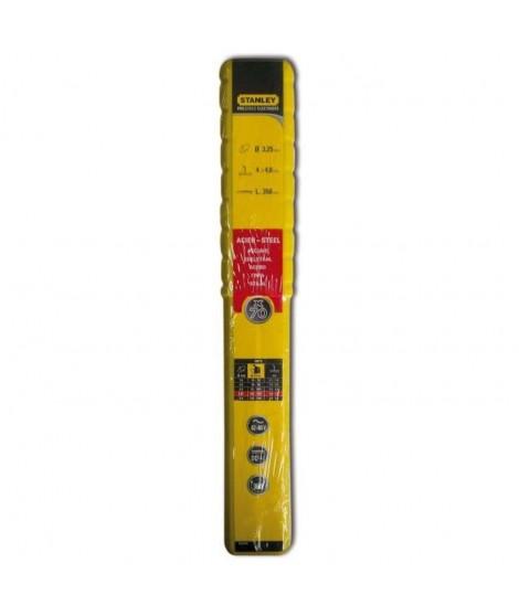 STANLEY 460932  Lot de 70 électrodes rutiles acier - Ø 3,25 mm - L 350 mm - Baguettes de soudure