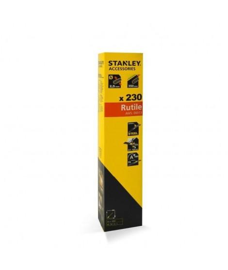 STANLEY 460933  Lot de 165 électrodes rutiles acier - Ø 3,25 mm - L 350 mm - Baguettes de soudure