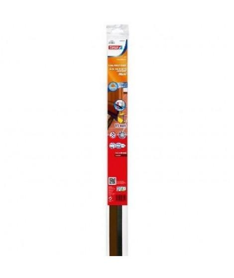 TESA Joint bas de porte adhésif - Spécial sol - 1 m x 43 mm x 15 mm - Marron