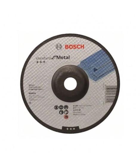 BOSCH Meule a ébarber a moyeu déporté Standard for Metal - Ø 180mm - Epaisseur 6mm