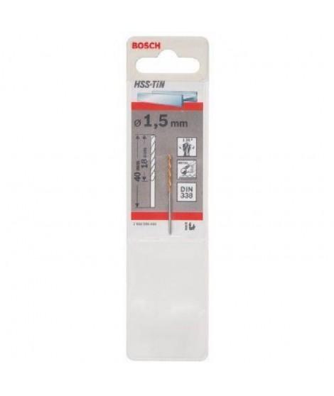BOSCH Foret pour le métal HSS - 1.5 mm - - Longueur 40 mm DIN 338 - 1 Piece