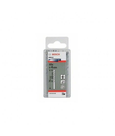 BOSCH Foret pour le métal HSS 1 mm Longueur 34 mm DIN 338