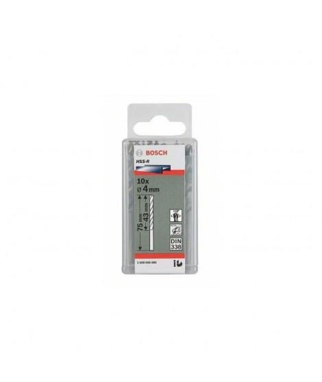 BOSCH Foret pour le métal HSS 5.1 mm Longueur 86 mm DIN 338 10 pieces