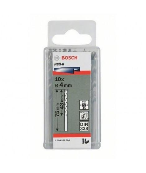 BOSCH Foret pour le métal HSS 6.5 mm Longueur 101 mm DIN 338 10 pieces