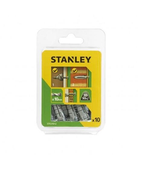 STANLEY Kit de 10 chevilles multi-matériaux ø10 mm avec vis STF27012-XJ