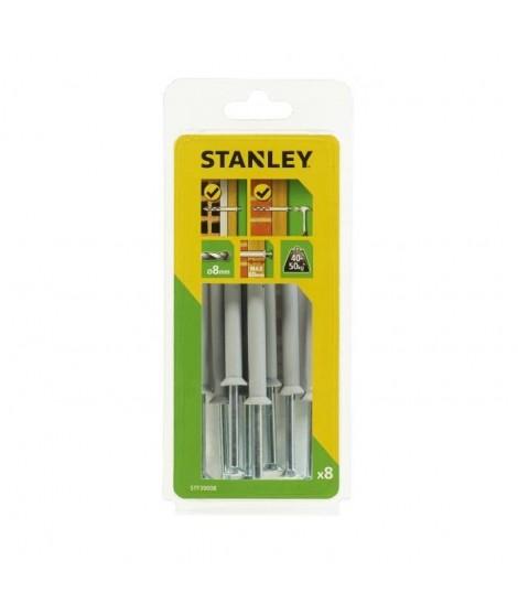 STANLEY Kit de 8 chevilles a frapper ø 8x100 mm STF39008-XJ