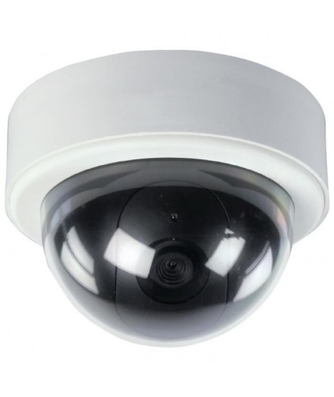 KONIG Caméra de surveillance factice dôme IP60 blanc et noir
