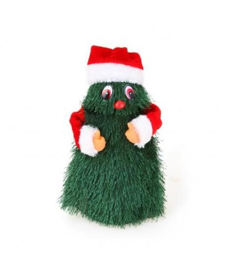 Pere Noël + Costume - A pile - H 21 cm