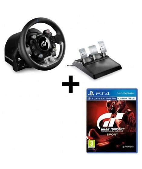 Pack THRUSTMASTER Volant et Pédalier T-GT version EU + Jeu Gran Turismo Sport PS4/VR