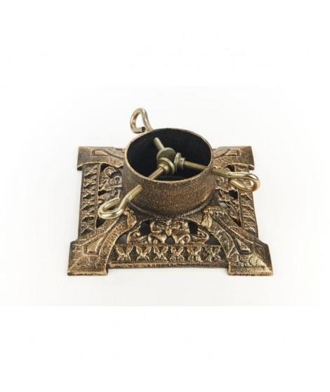 CHRISTMAS DREAM Pied de Sapin métal diametre 20 cm doré