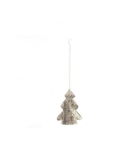 Sapin de noël en métal 18 x 25 x 6 cm