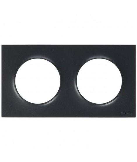 SCHNEIDER ELECTRIC Plaque de finition 2 postes Odace Styl anthracite