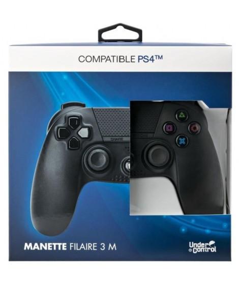 PROXIMA PLUS Manette Under Control - 3M - Compatible PS4 - Noire