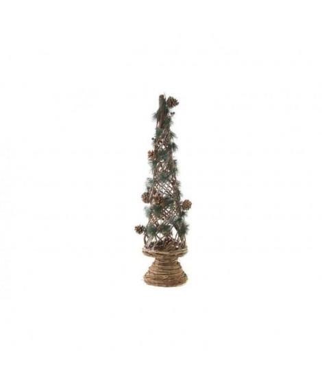 Arbre de Noël Ananas en osier - 25 x 86 cm