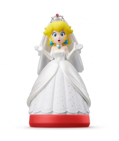 Figurine amiibo Super Mario - Peach en tenue de mariage
