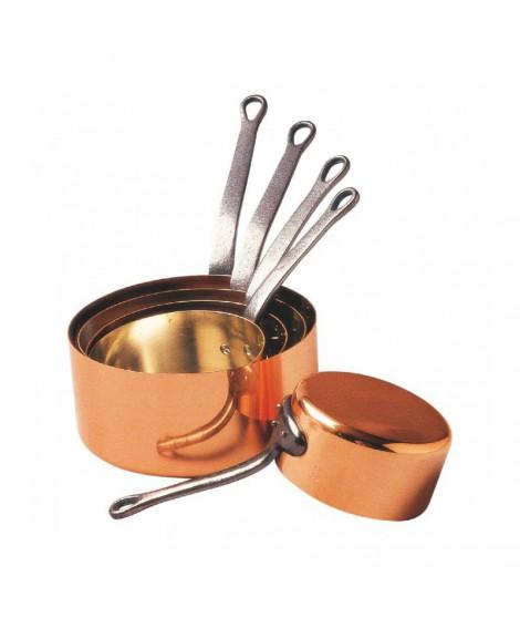 Série 5 casseroles en cuivre 12 à 20 cm - Baumalu