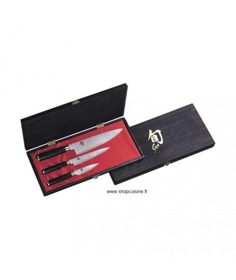 Coffret 3 couteaux Shun Kai